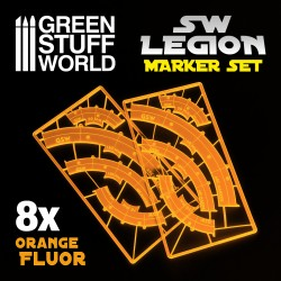 Marqueurs de ligne de tir Legion - Orange fluor