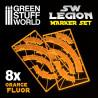 Legion arc-shaped line of fire markers - ORANGE FLUOR