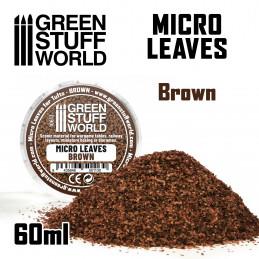 MICRO FEUILLES - Mélange brun