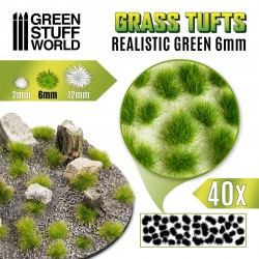 Grasbüschel - Selbstklebend - 6mm - Realistische Grün