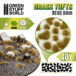 Grass TUFTS - 6mm self-adhesive - BEIGE
