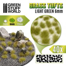 Grasbüschel - Selbstklebend - 6mm - Hellgrün