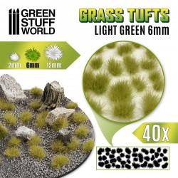 Touffes d'herbe - 6mm - Auto-Adhésif - Vert clair