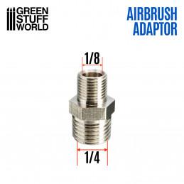 """Adaptador Aerografo Macho 1/4"""" a 1/8"""""""