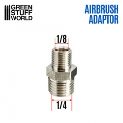 """Airbrush Thread Adapter 1/4"""" to 1/8"""""""