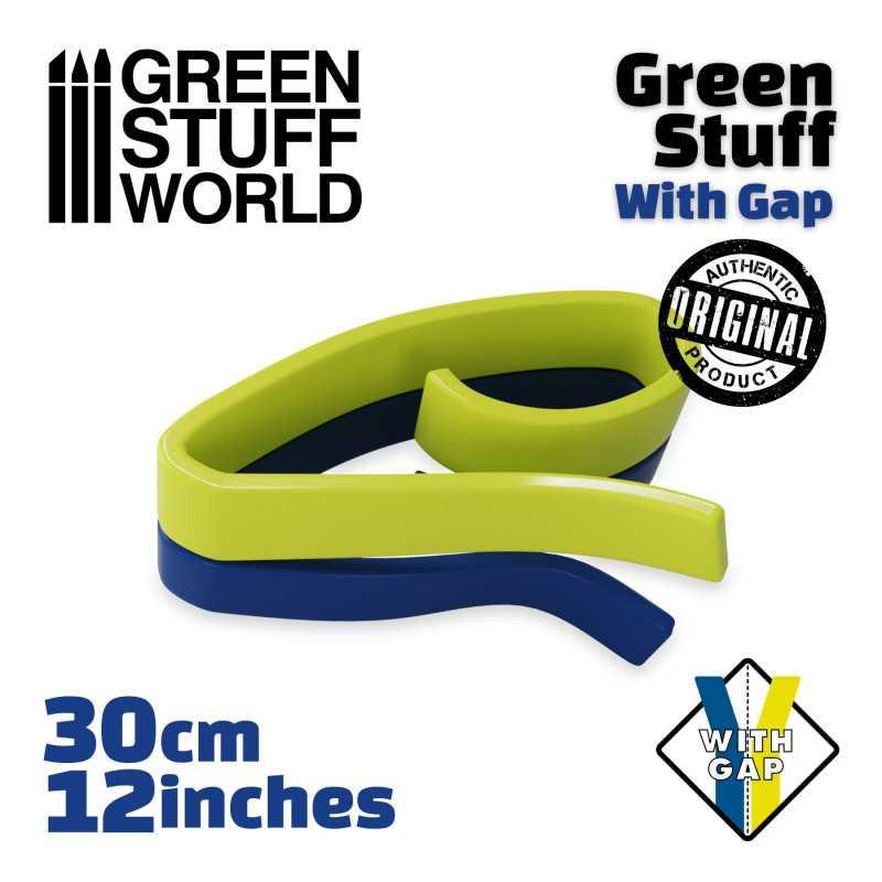 Masilla verde en Rollo 30 cm CON HUECO