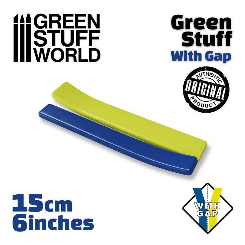 Masilla verde en Rollo 15 cm CON HUECO