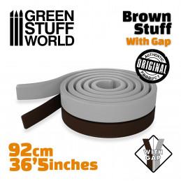 Brown Stuff Modelliermasse Rolle 92 cm - 36.5 inches MIT TRENNUNG