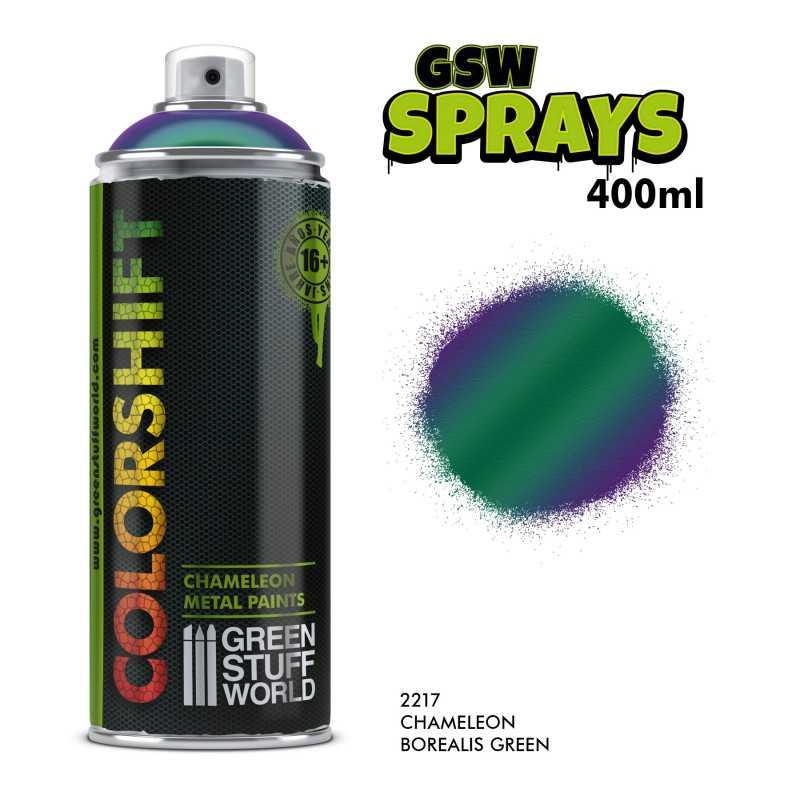 SPRAY Colorshift Chameleon BOREALIS GREEN 400ml