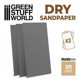 Schleifpapier 180x90mm - DRY 320er Körnung