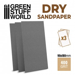 Papier de verre 180x90mm - DRY- Grain 400