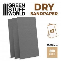 PAPEL LIJA - DRY SandPaper - Grano 800