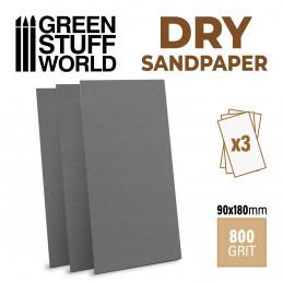 Papier de verre 180x90mm - DRY - Grain 800