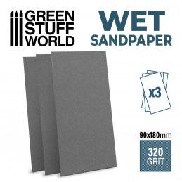 Papier de verre humide et waterproof 180x90mm - 320 grit