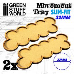 Bandejas de movimiento DM 32mm x 10 - SLIM-FIT