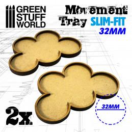 Bandejas de movimiento DM 32mm x 5 - SLIM-FIT