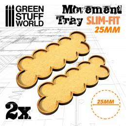 Plateaux de Mouvement MDF 25mm x 10 - Skirmish