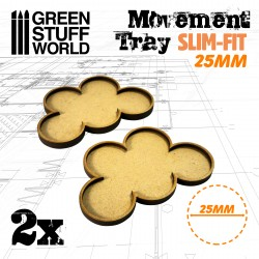 MDF Regimentsbases 25mm x 5 - SLIM-FIT