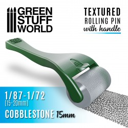 Rolling pin with Handle - Cobblestone 15mm