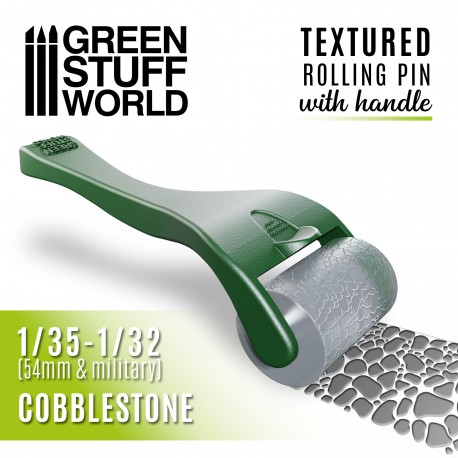 Rolling pin with Handle - Cobblestone