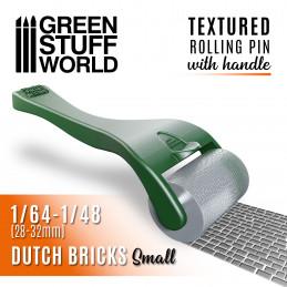 Strukturierte Walze mit Griff - kleine Holländische ZIEGEL