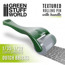 Rouleau texturé avec poignée - BRIQUES hollandaise
