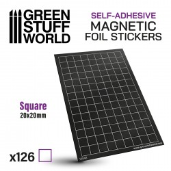 Square Magnetic Sheet SELF-ADHESIVE - 20x20mm