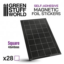 Square Magnetic Sheet SELF-ADHESIVE - 40x40mm