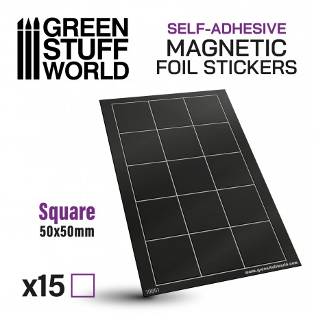 Square Magnetic Sheet SELF-ADHESIVE - 50x50mm