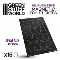 Oval Magnetic Sheet SELF-ADHESIVE - 60x35mm