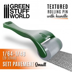Rolling pin with Handle - Sett Pavement Small