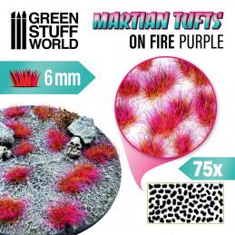 Touffes d'herbe martienne - ON FIRE PURPLE