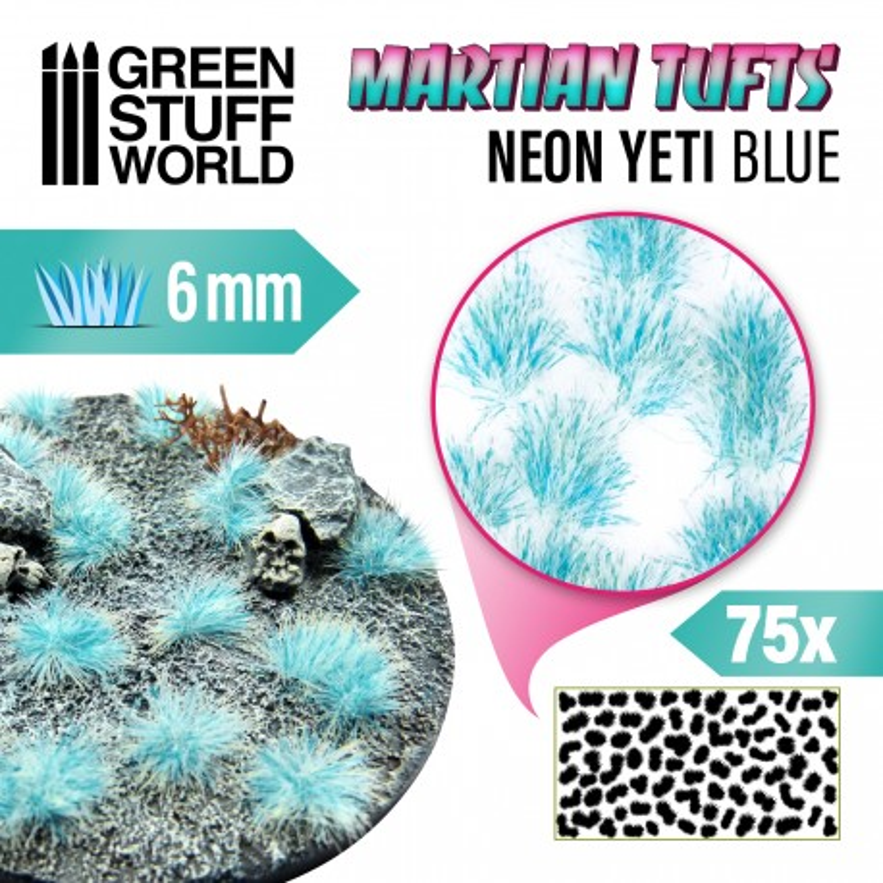 Marsgrasbüschel - NEON YETI BLUE