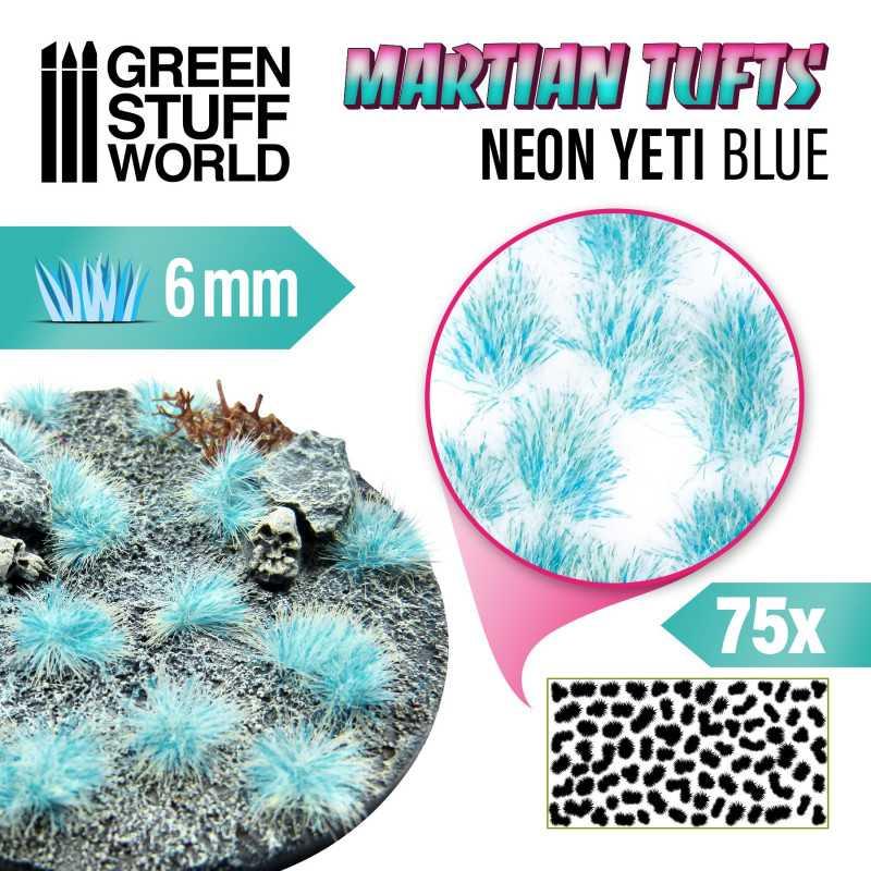 Martian Fluor Tufts - NEON YETI BLUE