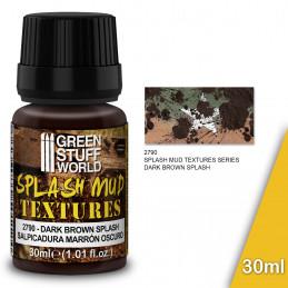 Splash Mud Textures - DARK BROWN 30ml