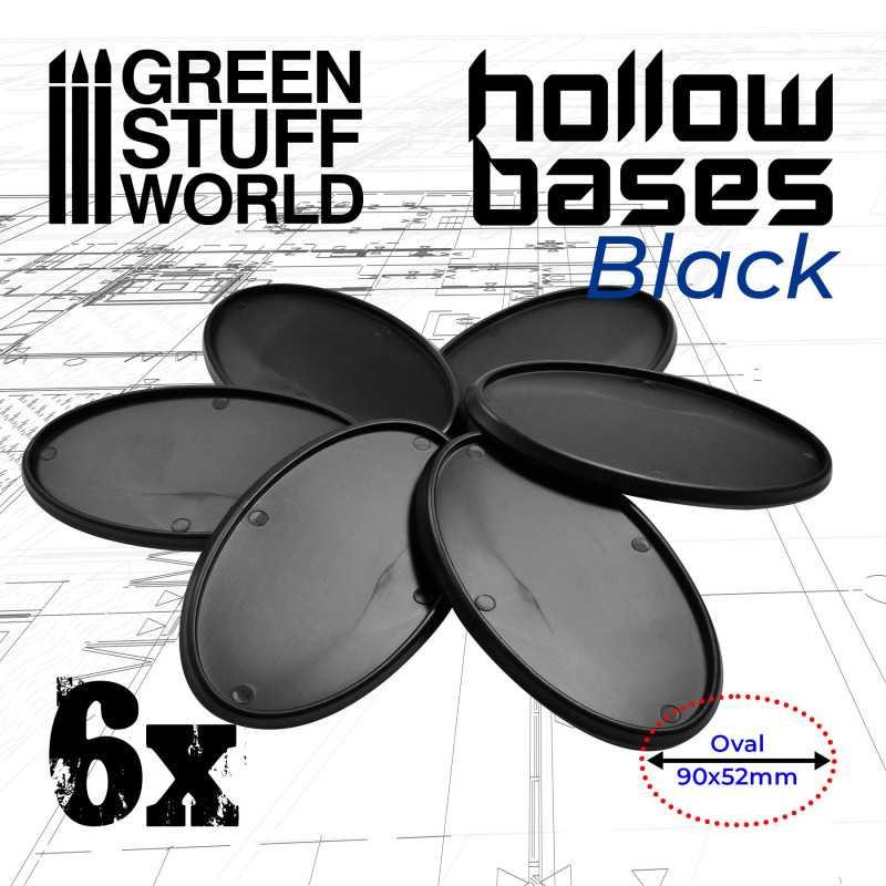 Peana HOLLOW NEGRO - Ovaladas 90x52mm