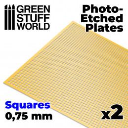 Messing-Tiefdruckbleche - Mittlere Quadrate