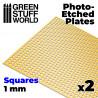 Messing-Tiefdruckbleche - Große Quadrate