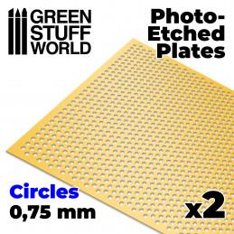Plaques de Photogravées - Cercles Moyens