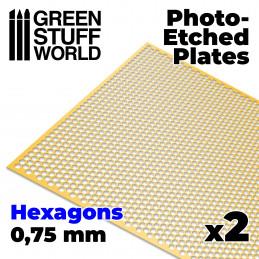 Plaques de Photogravées - Hexagones Moyens