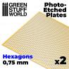 Photo-etched Plates - Medium Hexagons