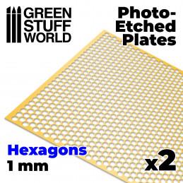 Placas Fotograbados - Hexagonos Grandes