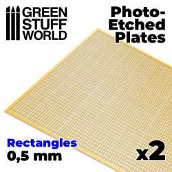 Photo-etched Plates - Small Rectangles