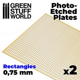 Photo-etched Plates - Medium Rectangles