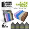 Foam Sanding Pads - FINE GRIT ASSORTMENT x20
