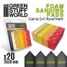 Foam Sanding Pads - COARSE GRIT ASSORTMENT x20