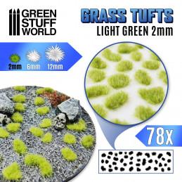 Touffes d'herbe - 2mm - Auto-Adhésif - Vert clair