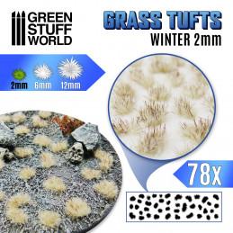 Touffes d'herbe - 2mm - Auto-Adhésif - L'hiver