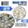 Grass TUFTS - 2mm self-adhesive - White winter