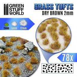 Grasbüschel - Selbstklebend - 2mm - Trockenes Braun